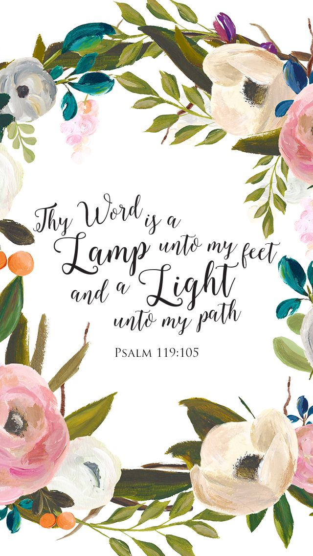 Free Lockscreen Thy Word is a lamp unto my feet, and a light unto my path. Psalm 119:105 #lampandlight Kristin Schmucker