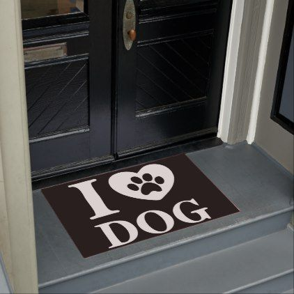 Funny I Love Dog Quote  Lovely Pet Paw Doormat - love quote quotes gift idea diy special design