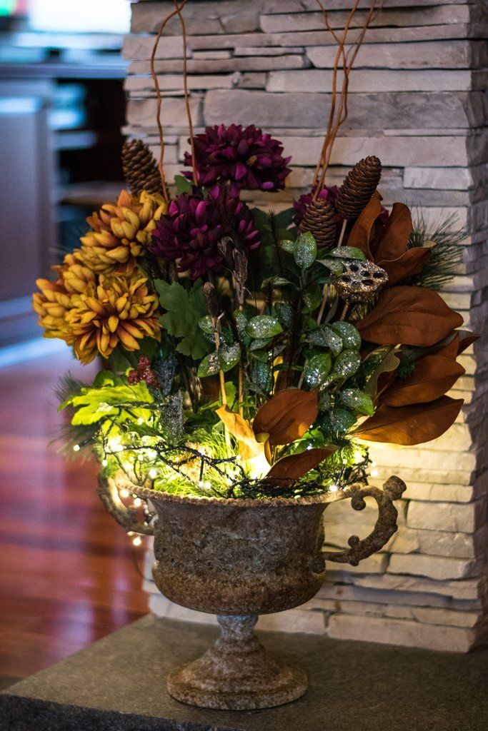 Floral Winter Centrepiece Winter centerpieces, Magenta
