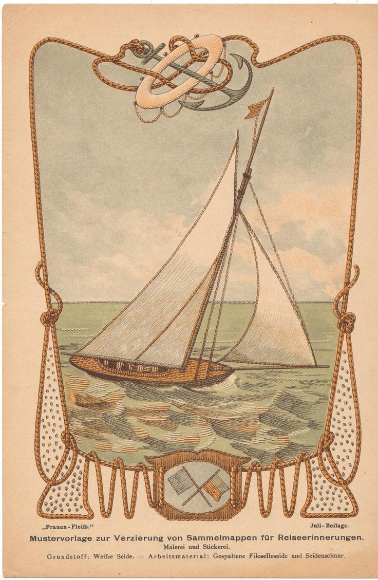 Lot of 7 Early 1890's Needlework Patterns from Frauen Fleiss A German Magazine   eBay