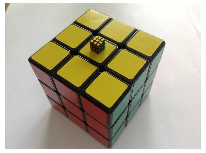 3d print of small rubik's cube