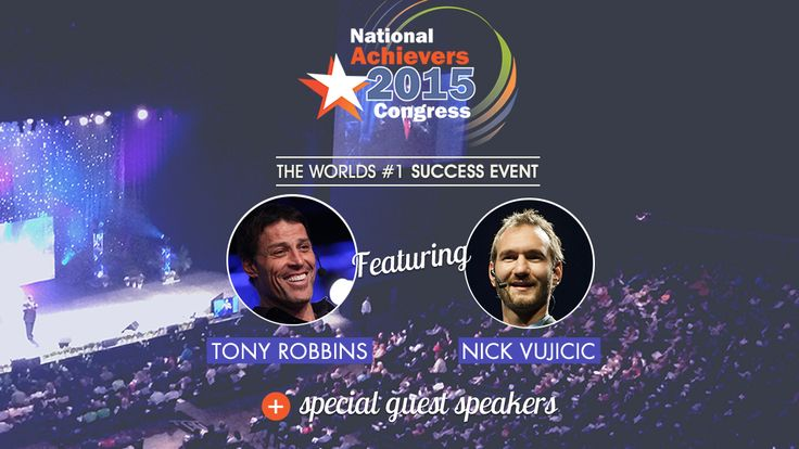 Just a few weeks left to get your tickets to see Nick Vujicic and Tony Robbins LIVE in Sydney at the Hordern Pavilion.   Tickets from just $97: http://bit.lt/nac_pin