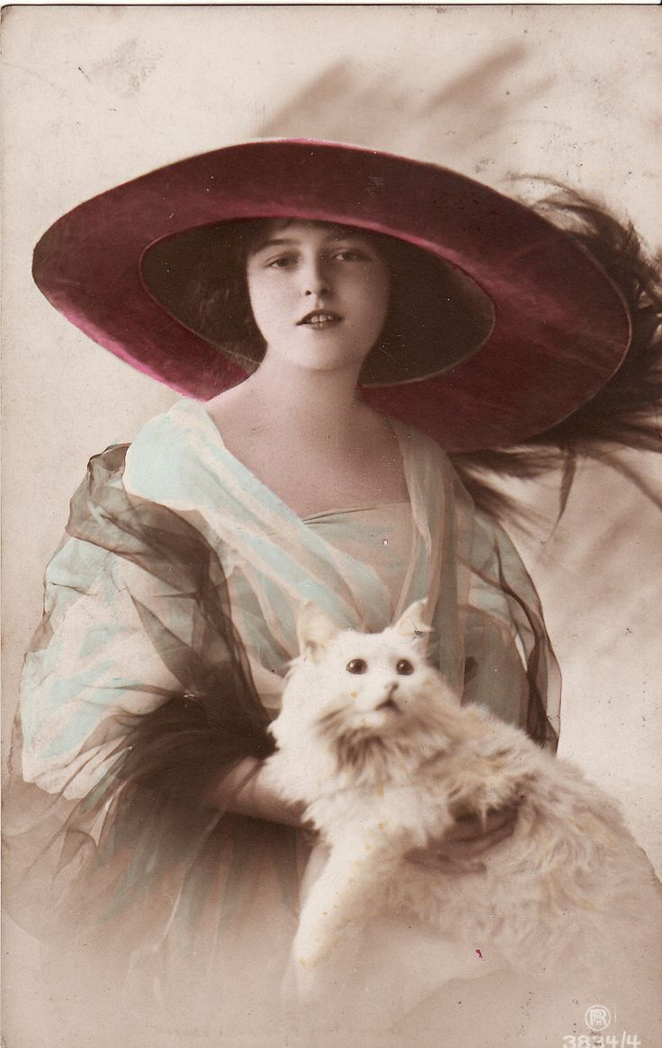 Cat Lady, circa 1913. You go, girl.