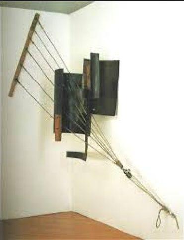Vladimir Tatlin, Counter Relief, 1914-15.  An early piece of Constructivism art.