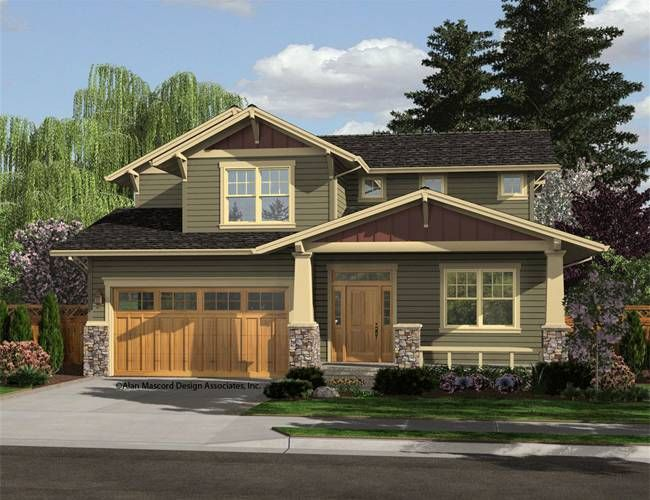Mascord House Plan 21111A - The Brentwood