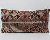 kilim pillow bohemian cushion cover organic pillow cover hippie pillow case ethnic rug antique pillow case country decorating lumbar 27564