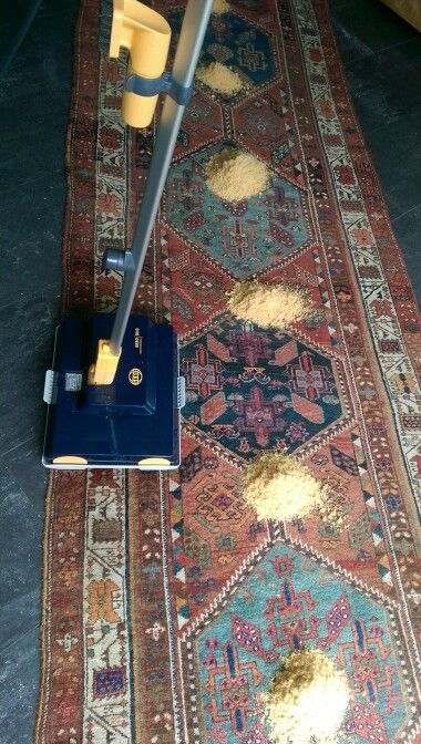 Rug cleaning, step 2.