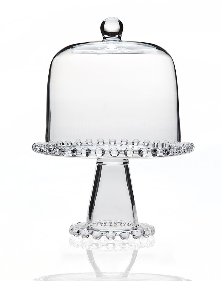 """8"""" Chesterfield Cake Plate with Dome"""