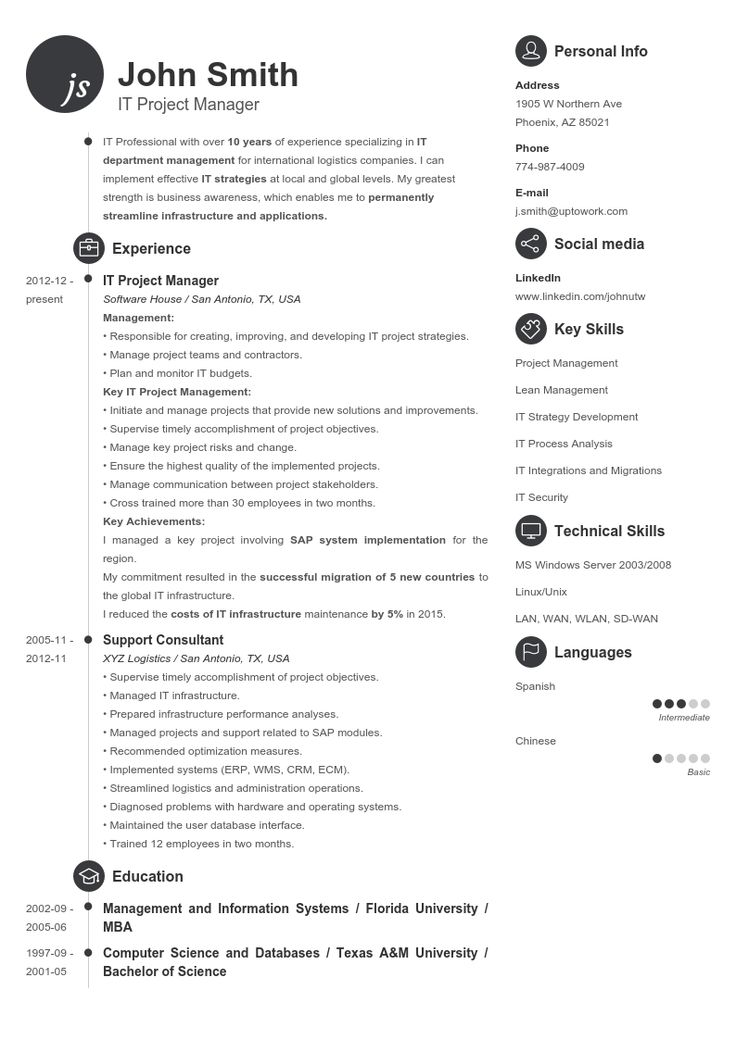The 25+ best Resume maker professional ideas on Pinterest Resume - consultant sample resumes