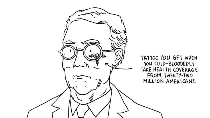 Daily Cartoon: Tuesday, June 27th http://www.newyorker.com/cartoons/daily-cartoon/tuesday-june-27th-mcconnell-tattoo-health-care?utm_campaign=crowdfire&utm_content=crowdfire&utm_medium=social&utm_source=pinterest