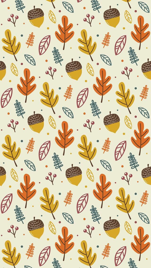 Wallpaper iPhone autumn pattern ⚪️