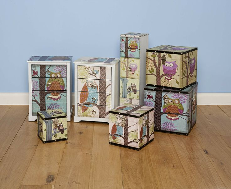 Owl Storage Range from The Reject Shop. Drawers, chests and cabinets.