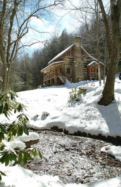 Blue Ridge Mountains Cabin in NC, Sleepy Creek-Antique Log Cabin on Beautiful Stream Near Boone