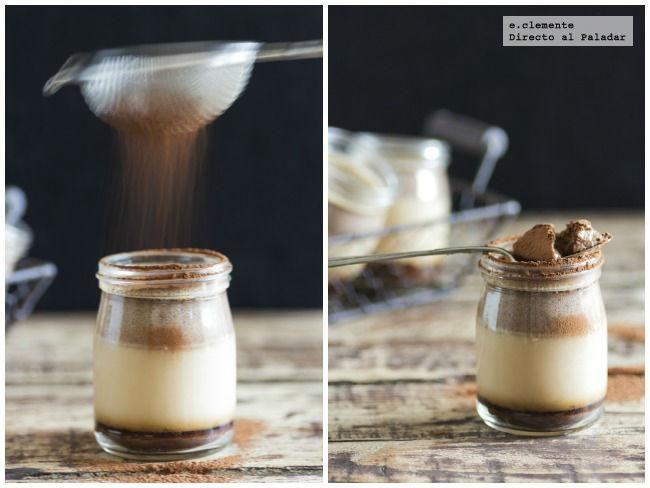 Natillas de Nutella con caramelo de chocolate. Receta con fotos del paso a paso y sugerencias de presentación.