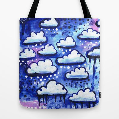 Clouds Tote Bag by Stina Glaas - $22.00