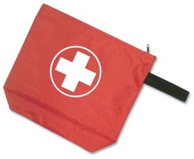Promotional Products Ideas That Work: Nylon First-Aid Case. Made in Canada. Get yours at www.luscangroup.com