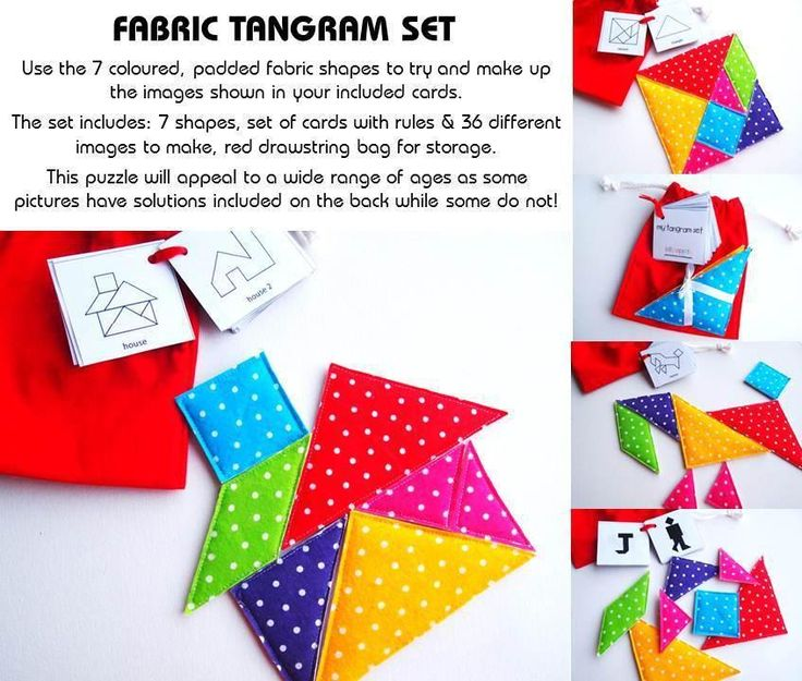 Fabric Tangram Set — Unique Toys & Handmade Gifts   The Coffee Apple