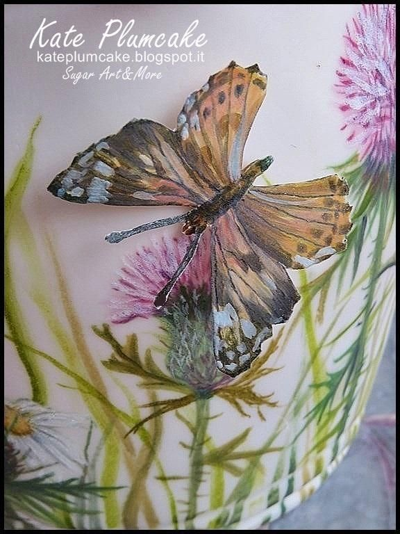Butterfly hand painted - Cake by Kate Plumcake