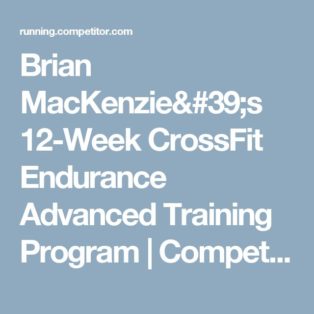 crossfit endurance 12 week program pdf