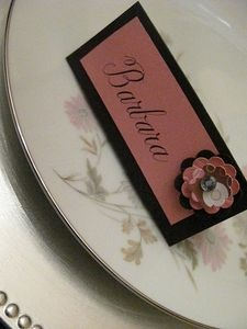 Homemade Wedding Place Cards thumbnail
