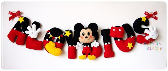 Crafters Boutique: Mickey Mouse Name Garland for Aloysius