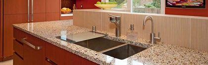 encimeras de cocina de vidrio reciclado