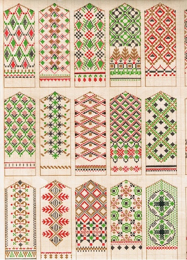 Latvian mitten patterns