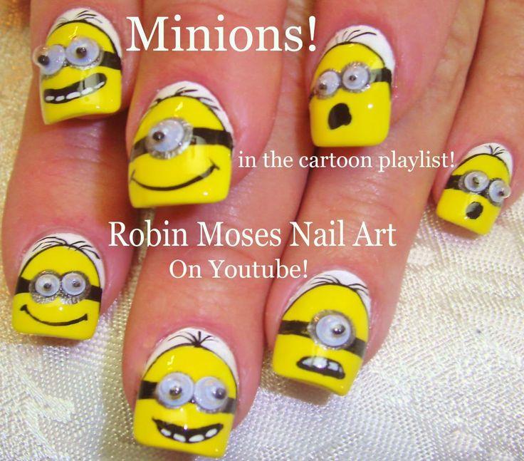 51 mejores imágenes de Minion NAILART!!! en Pinterest | Maquillaje ...