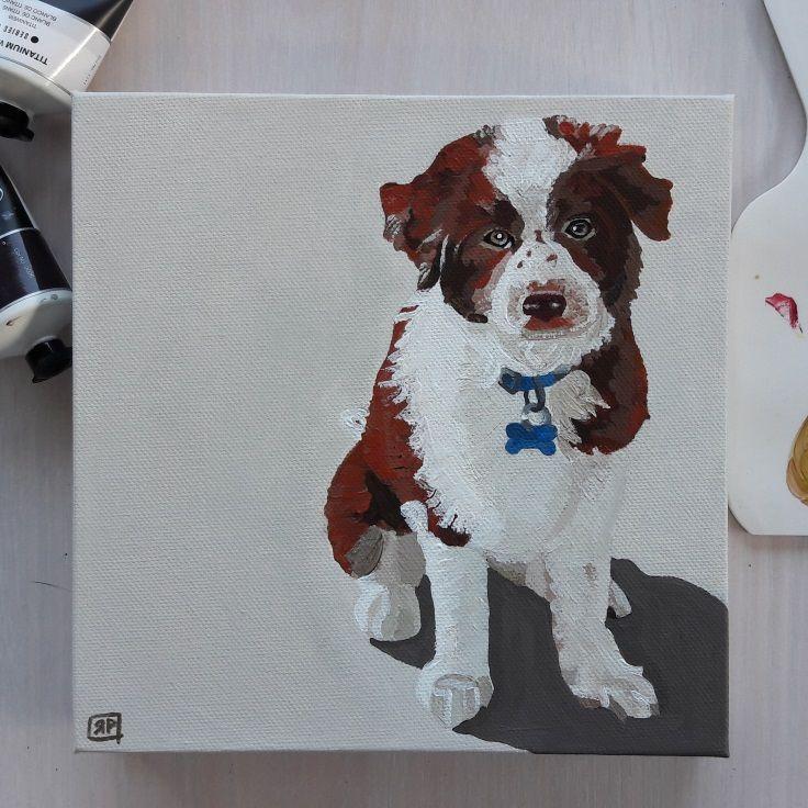 Pet Portrait of Max by Rebecca Potter.