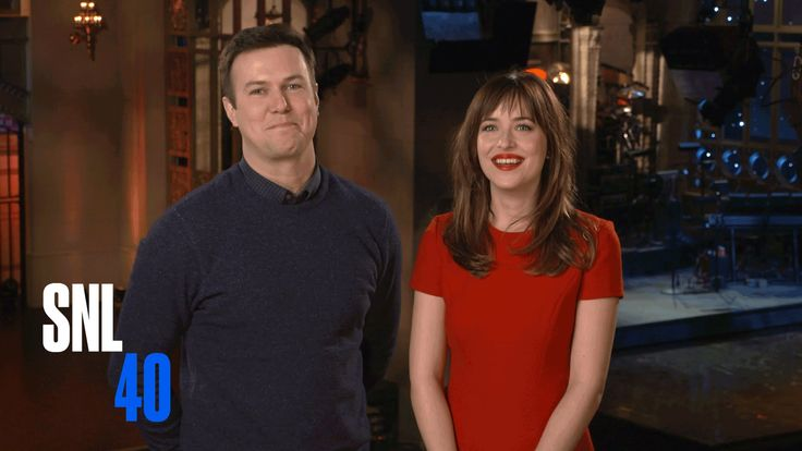 SNL Host Dakota Johnson and Taran Killam Beg Her Mom To Watch 50 Shades