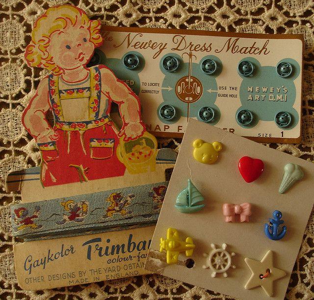 Vintage Sewing Notions by bleintz, via Flickr