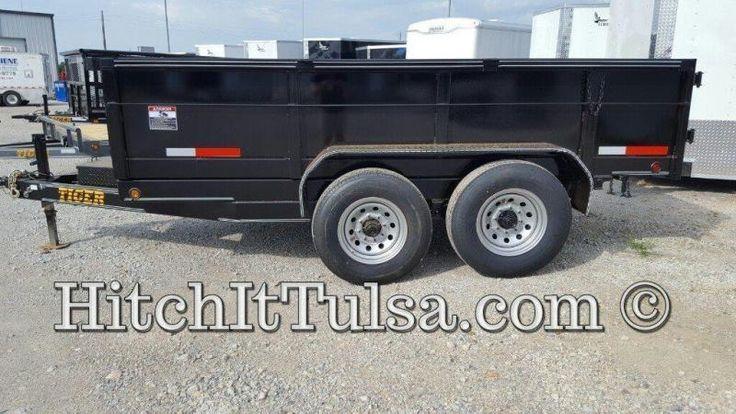 83 x 12 DUMP TRAILER bumper pull slide out ramps 7000 lb axles   Hitch It Tulsa   Enclosed Cargo, Car Hauler, Race Trailers, Dump Gooseneck and Utility Trailers in Tulsa OK