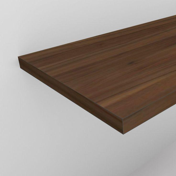 Waschtischplatte 4 cm in Holzdekor nach Maß