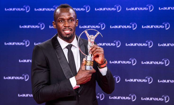 MONTE CARLO, MONACO - FEBRUARY 14: Usain Bolt, Olympic Gold Medalist, attends the 2017 Laureus World Sports Awards at the Salle des Etoiles, Sporting Monte Carlo on February 14, 2017 in Monaco, Monaco. The most outstanding athletes of the past year were honoured at the Laureus World Sports Awards 2017. (Photo by Lukas Schulze/IWC Schaffhausen via Getty Images )