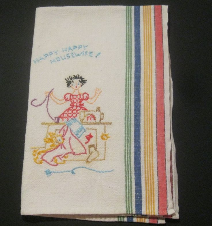 US $14.99 Used in Collectibles, Linens & Textiles (1930-Now), Kitchen Textiles