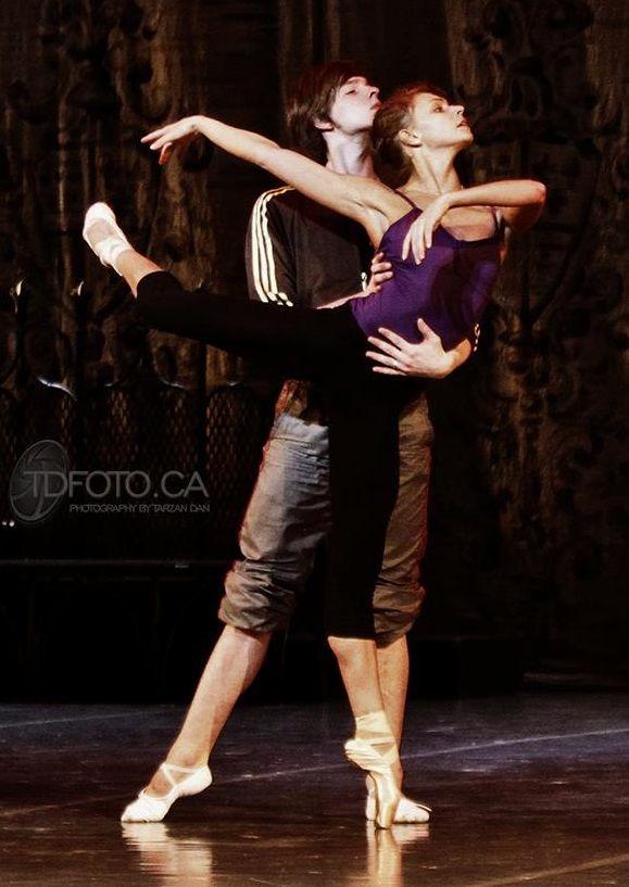 Oksana Bondareva and Victor Lebedev rehearsing Swan Lake at Mikhailovsky Theatre. Photo by Tarzan Dan TDFoto.ca