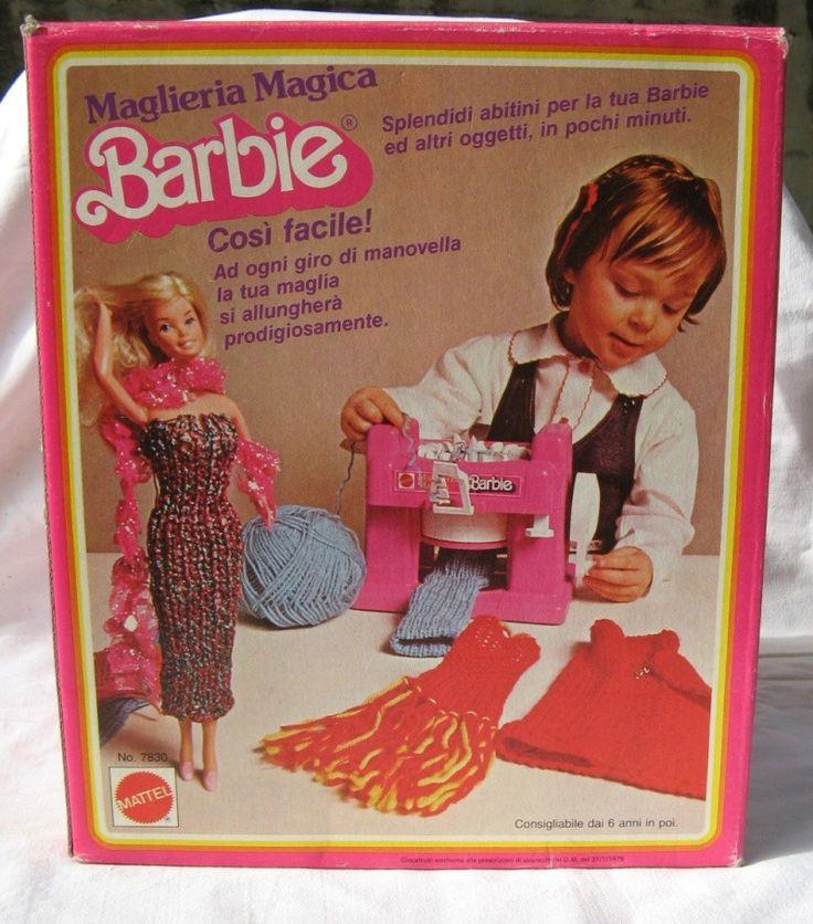 MAGLIERIA MAGICA BARBIE anni '80