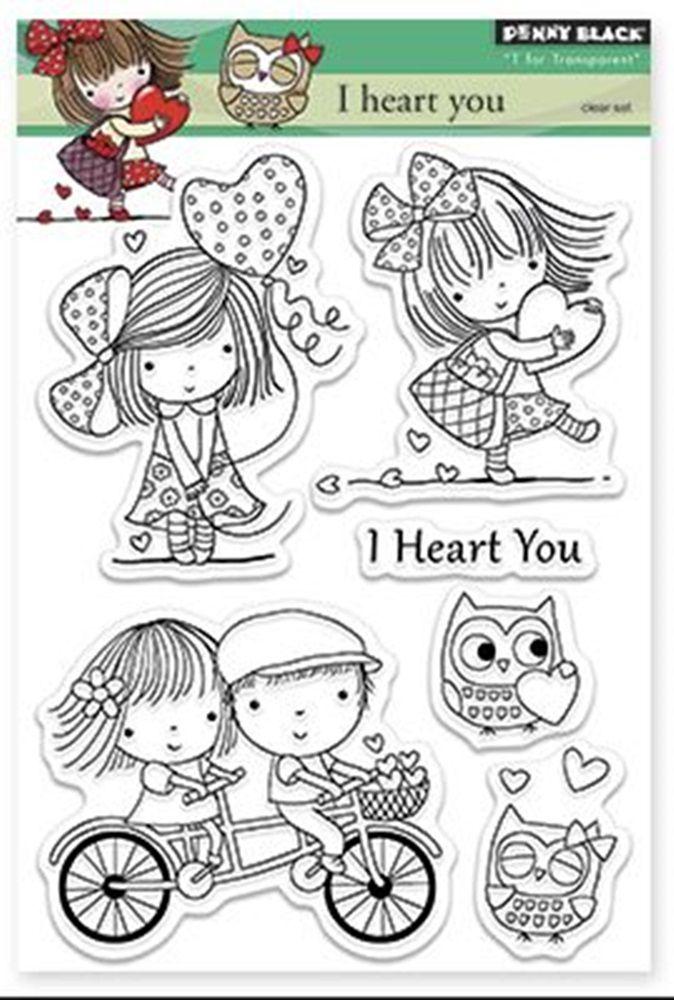 Penny Black I heart you