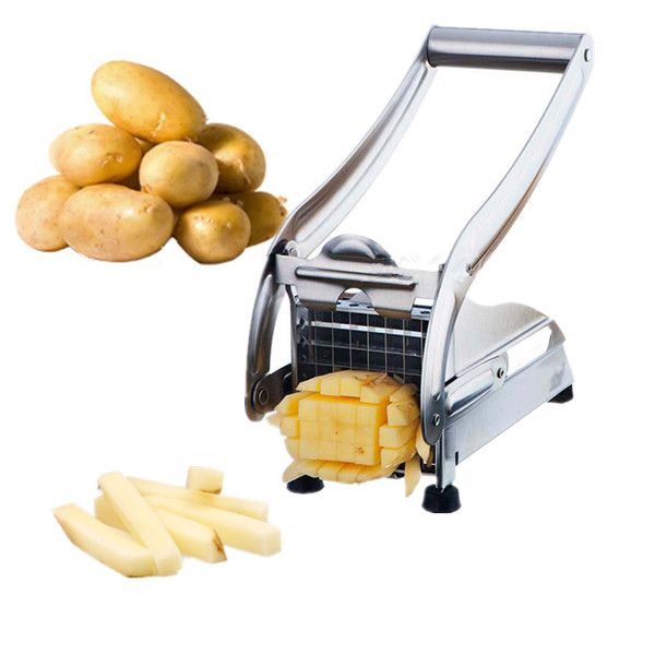 Stainless Steel French Fry Cutter Potato Cutter Fries Potato Maker Kitchen Tools Gadgets
