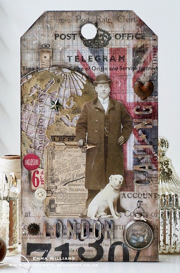 London Calling created by Emma Williams for the Simon Says Stamp Monday Challenge - theme: Home Sweet Home
