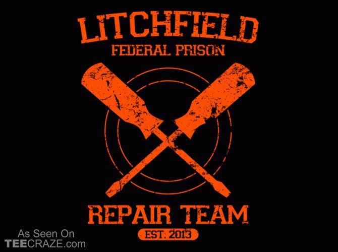 Litchfield Repair Team T-Shirt - http://teecraze.com/litchfield-repair-team-t-shirt/ -  Designed by alecxps    #tshirt #tee #art #fashion #clothing #apparel