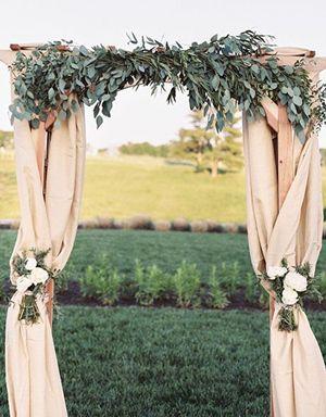 greenery wedding arch ideas for country weddings