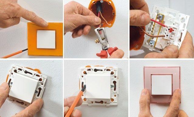 Les 25 meilleures id es de la cat gorie installation for Changer un interrupteur mural