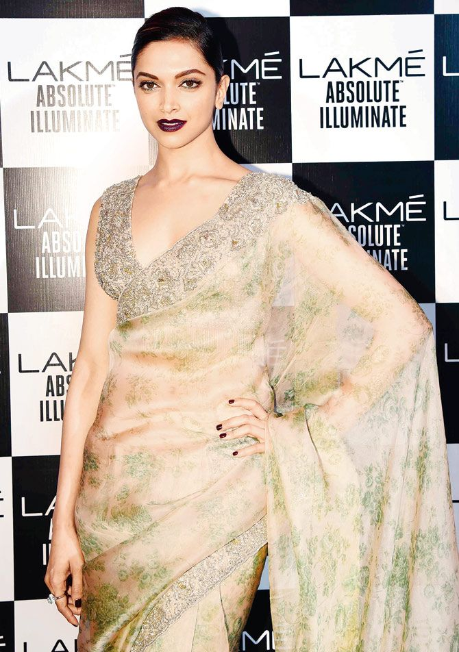 Deepika Padukone at the Lakme Fashion Week Winter Festive 2016.