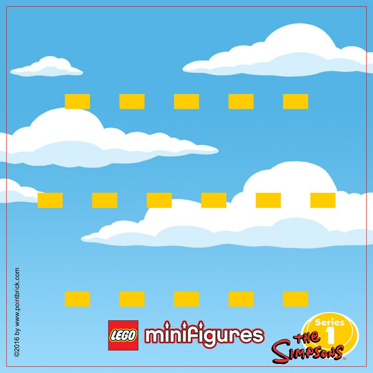 LEGO Minifigures The Simpsons - Series 1 - Display Frame Background 230mm - Clicca sull'immagine per scaricarla gratuitamente!