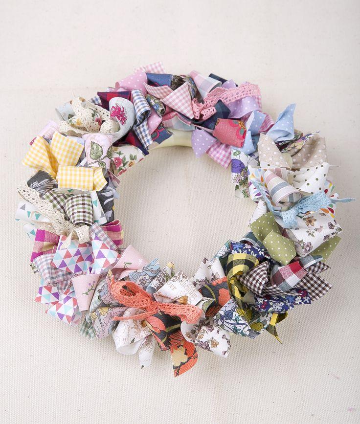 Burlap wreath #fabric #label #ribbon#Burlap wreath
