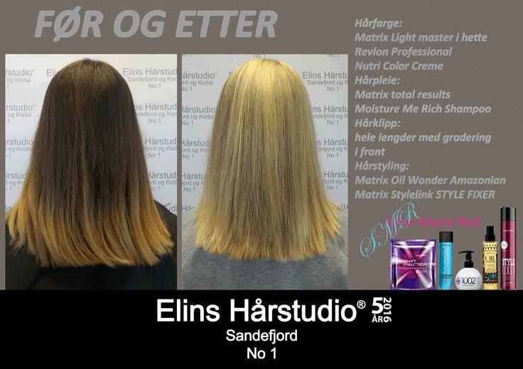 Mørk brun hårfarge til blond hårfarge