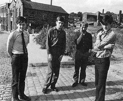 The lowly lads of Joy Division, in the good old pre-irony days.