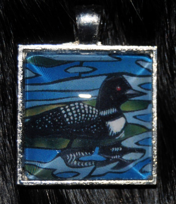 Loon Pendant by KabloonaKreations on Etsy, $18.00