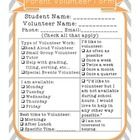This form can be easily printed off and filled out to help you stay informed of who can help and when....
